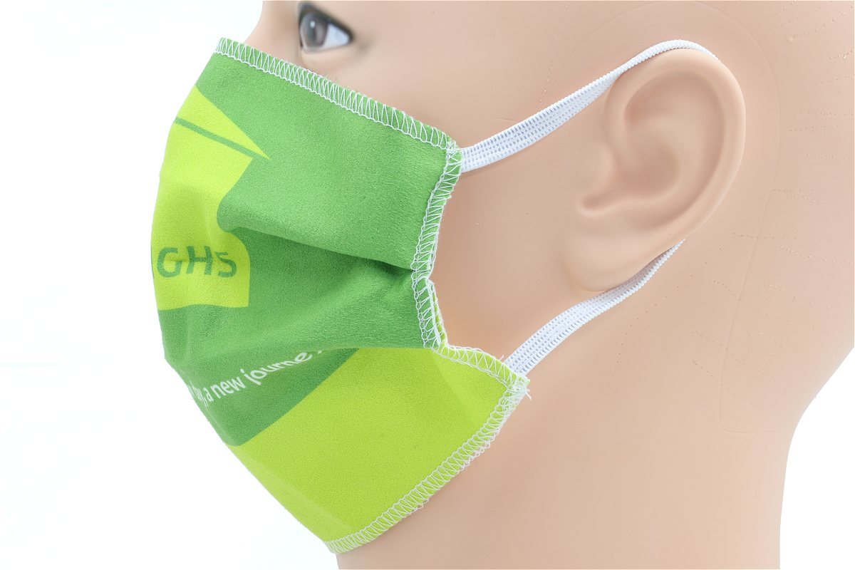 Branded Face Mask in Microfibre Cloth