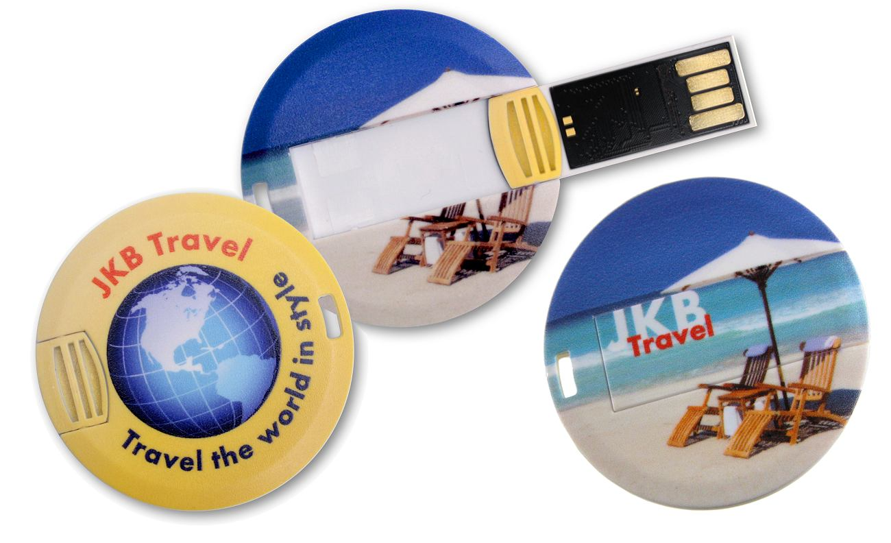 Coin Usb Stick Full Colour Printed Cd181