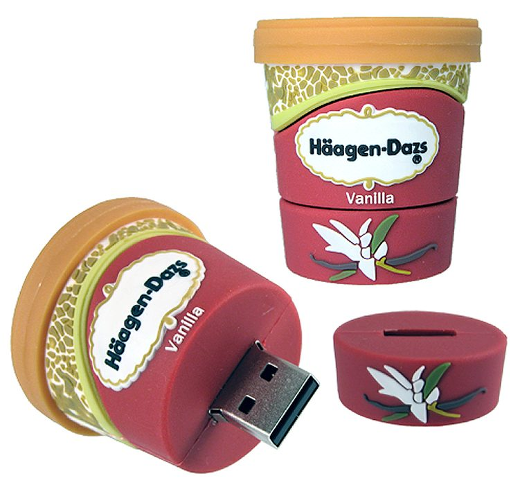 Custom Usb Stick Icecream Tub Haagen Dazs Cd206