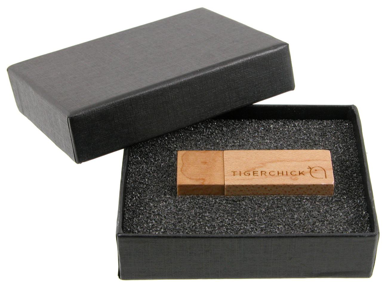 Eco Friendly Usb Stick Wood Black Box Cd103