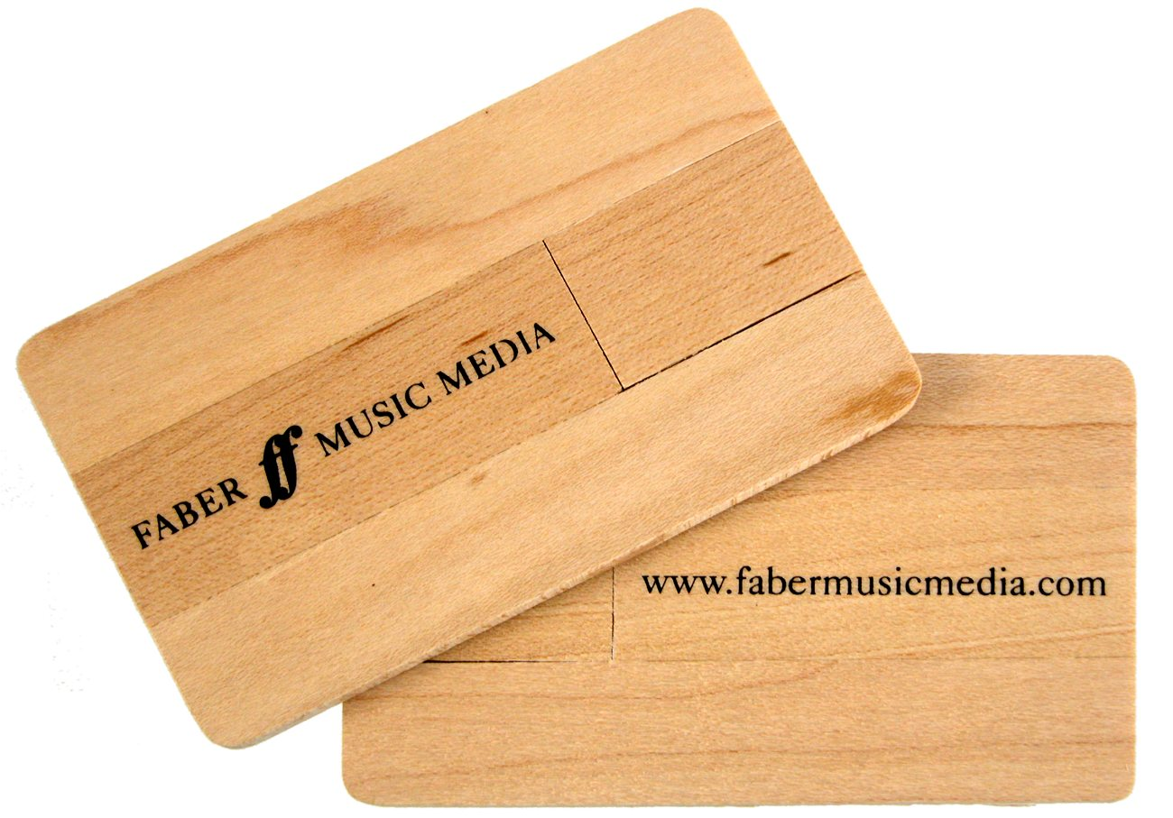 Eco Wood Credit Card Usb Sticks Logo Printed Cd264