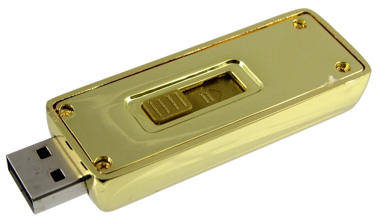 Gold Bar Flash Drive Underside Cd162
