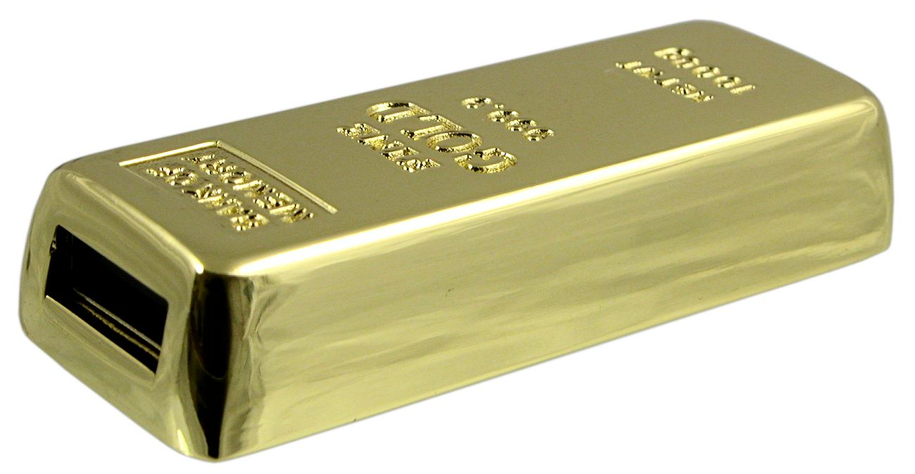 Gold Bar Usb Flash Drive Retracted Cd160