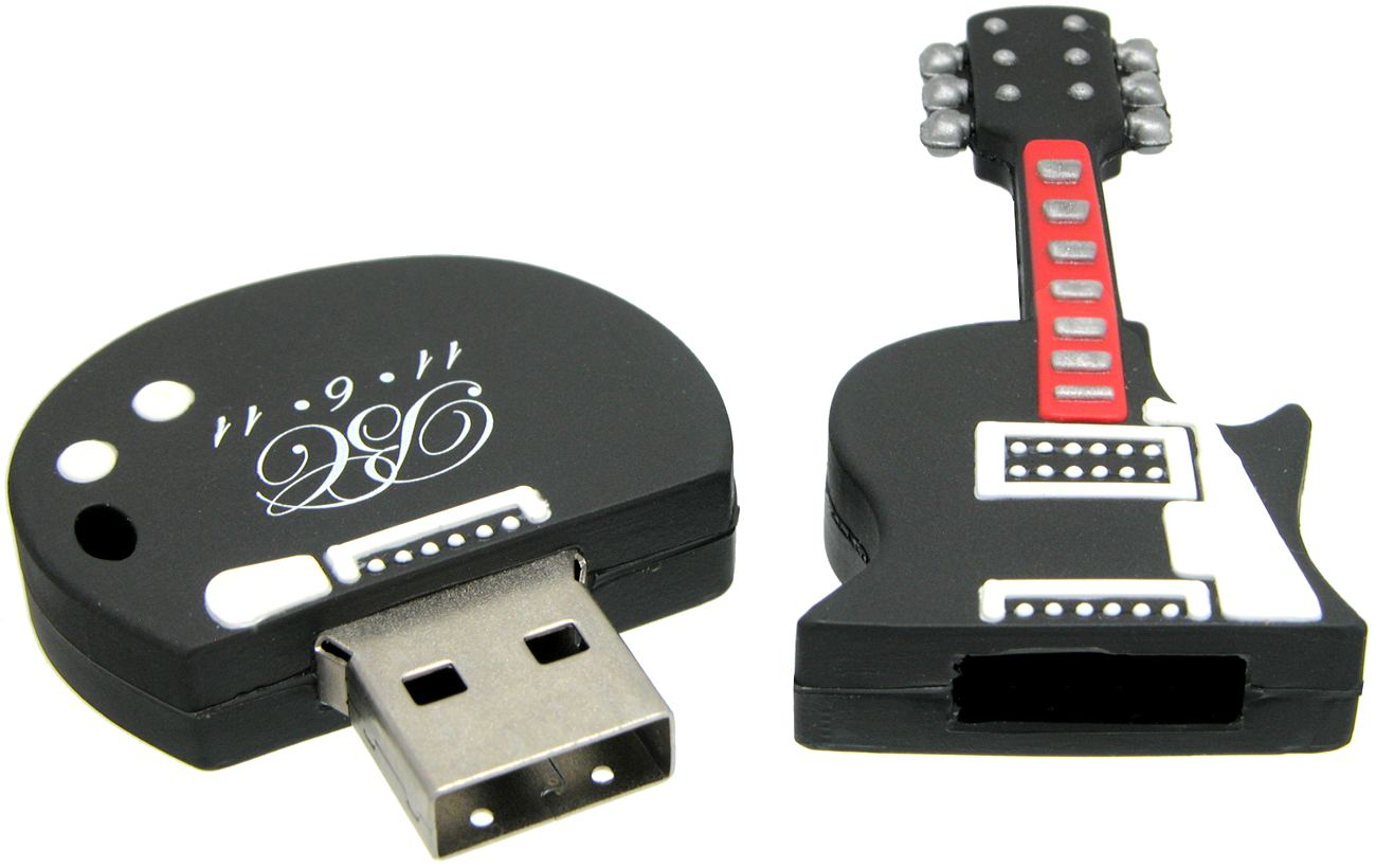 Guitar Shape Custom Usb Flash Drive Cd208