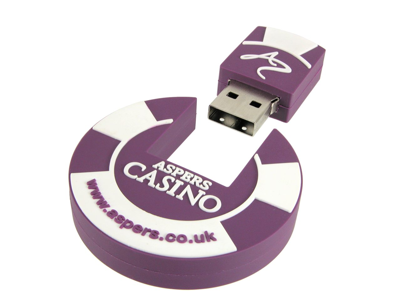 Poker Chip Flash Drive Aspers Casino Cd126