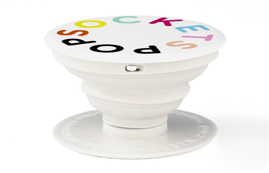 Popsocket white colour printed