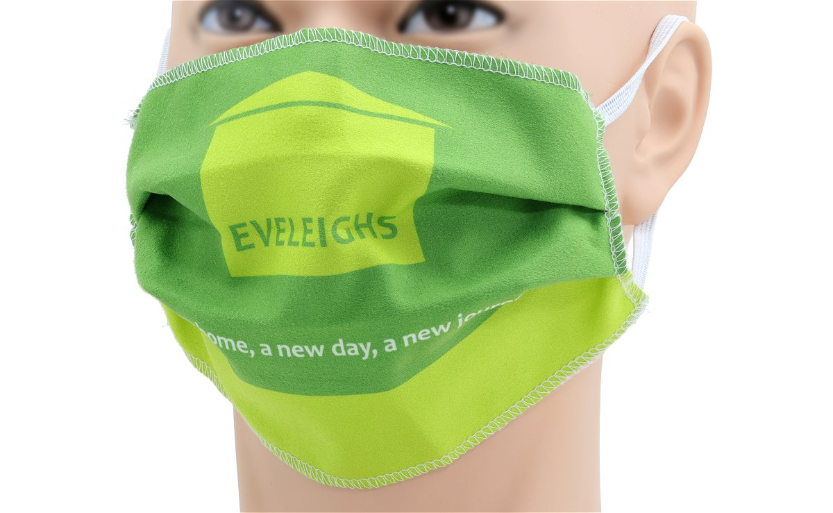 Printed Face Mask in Microfibre Cloth
