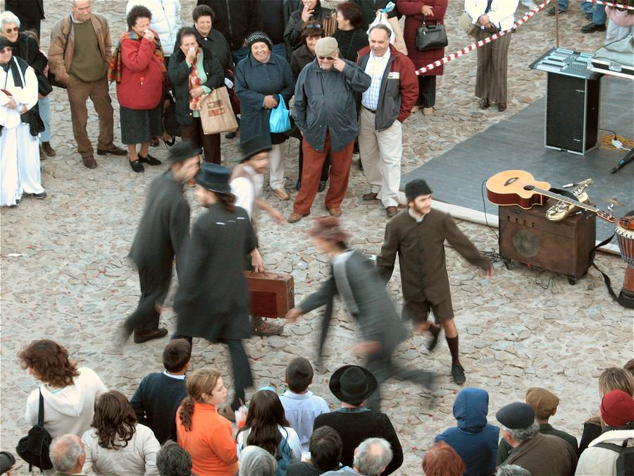 Street entertainers Marvao Chestnut Festival Portugal