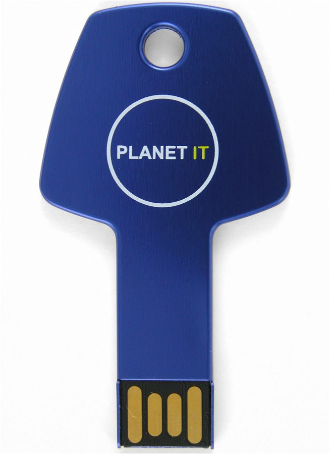 Usb Key Blue Front Planet It Cd134