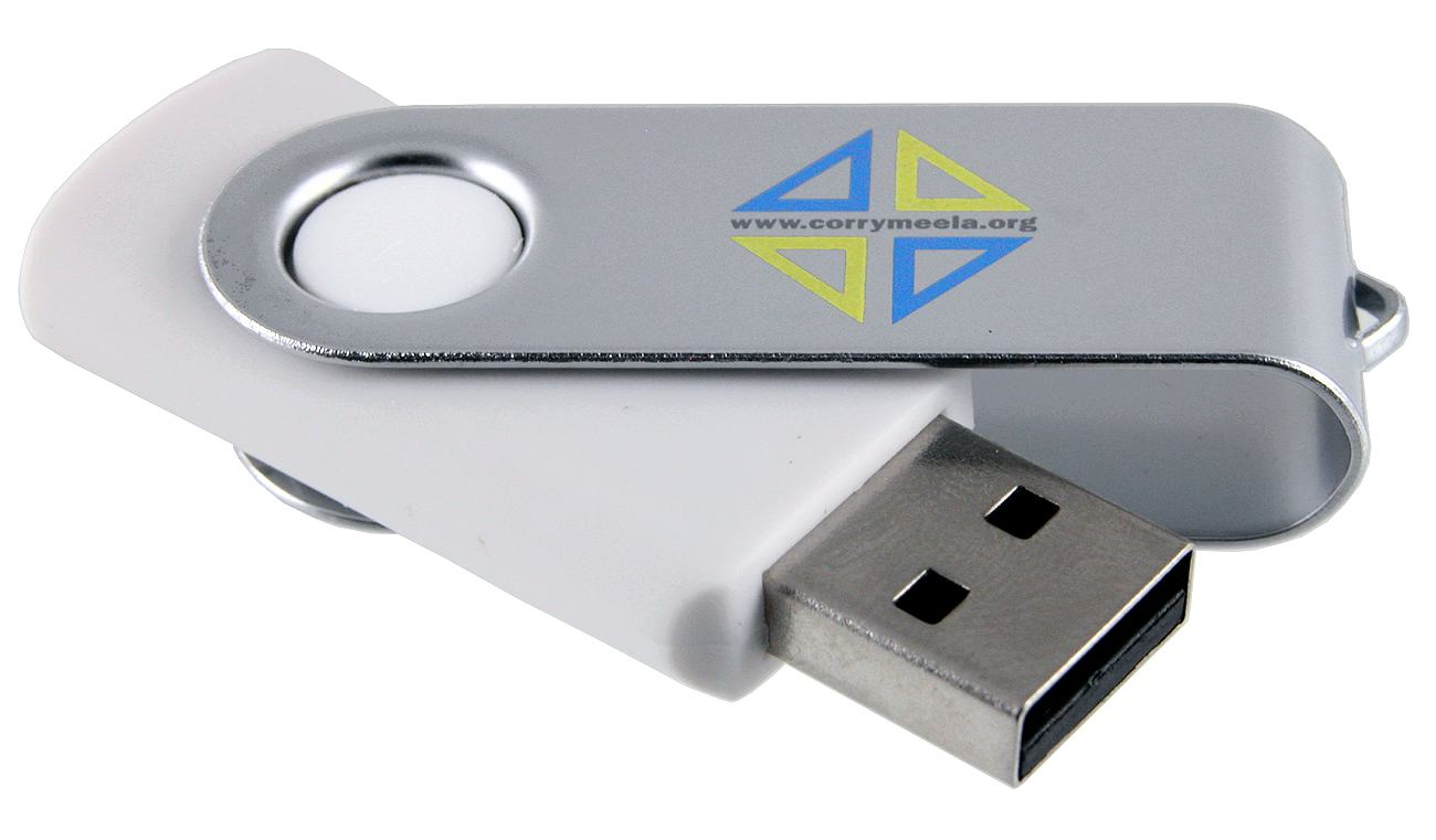 White Usb Drive Twister Swivel Cd114