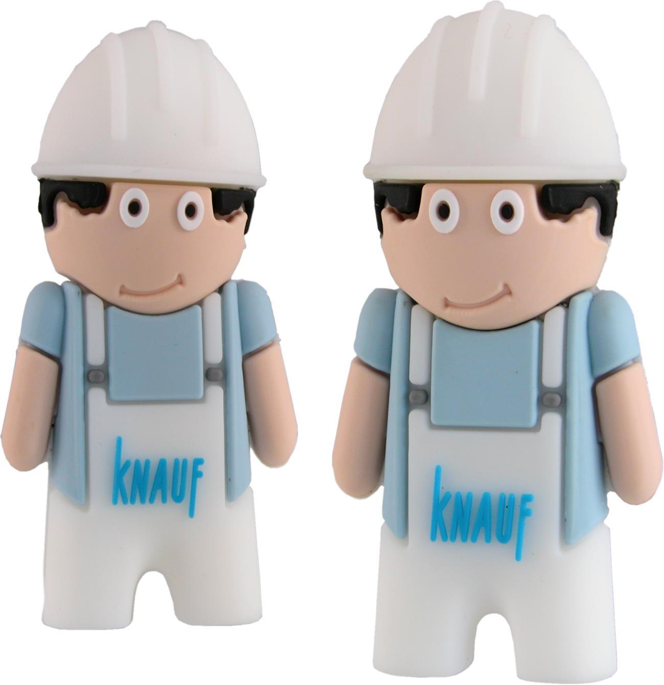 Workmen Character Usb Sticks Branded Knauf Cd256